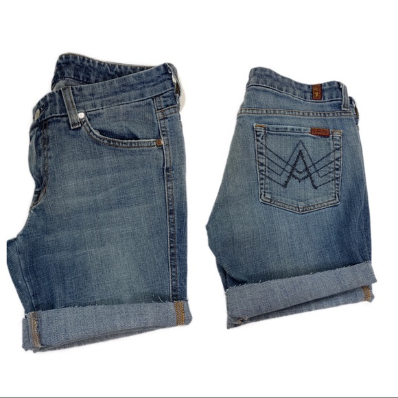 7 For All Mankind Pants - 7 For All Mankind sparkly A pocket cut off shorts